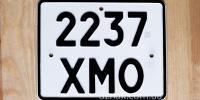 Номер на мотоцикл, старого типа